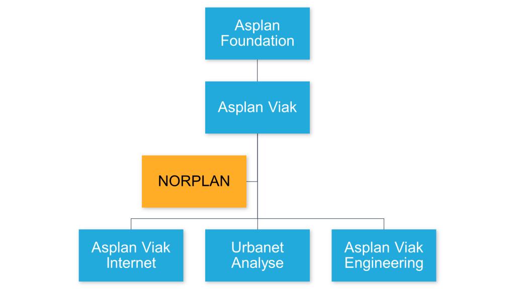 Asplan Viak Group organization chart